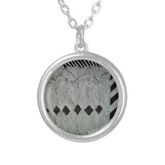 Formation of Diamonds Silver Plated Necklace