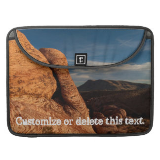 Formations in Red Rock Customizable Sleeves For MacBooks