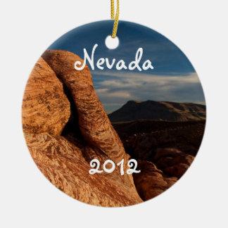 Formations in Red Rock; Nevada Souvenir Ceramic Ornament