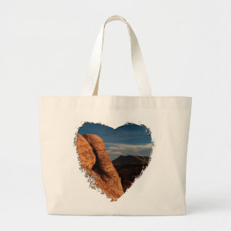 Formations in Red Rock; No Text Large Tote Bag