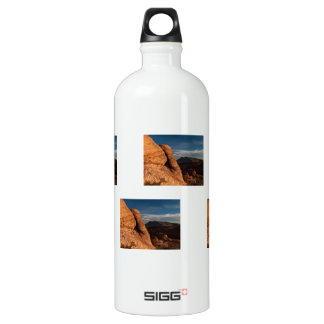 Formations in Red Rock; No Text Water Bottle