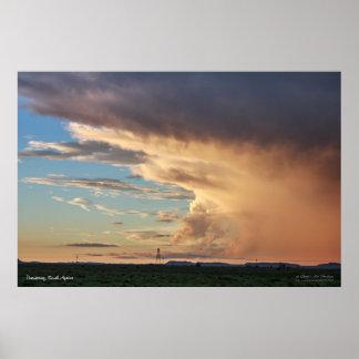 Formato excepcional hermoso de la nube póster