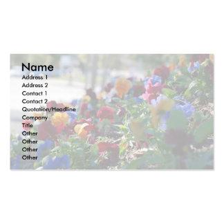 Formato grande floral de la tarjeta de visita del