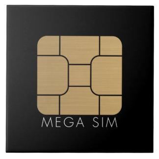 Formato mega de la tarjeta elegante de SIM Azulejos Cerámicos
