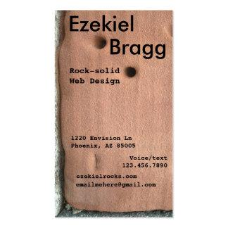 Formato vertical resistido de la piedra arenisca tarjetas de visita