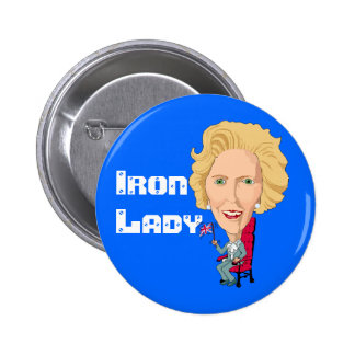 Former British Prime Minister Iron Lady THATCHER Pinback Button