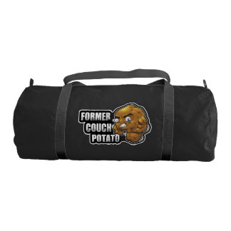 Former Couch Potato Cartoon Workout/Fitness Design Duffle Bag