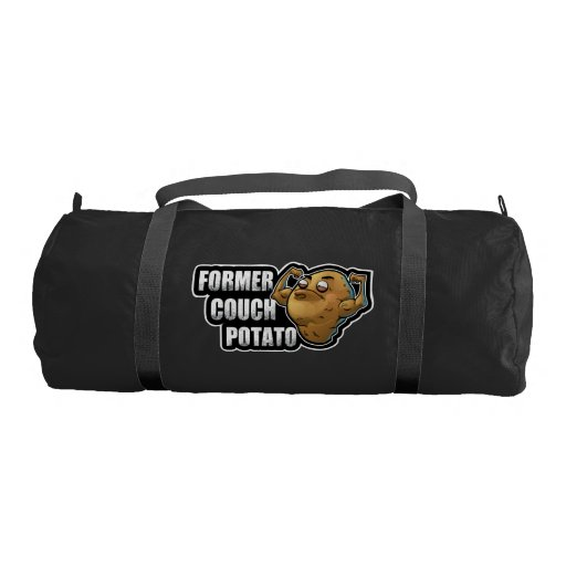 Former Couch Potato Flexed Muscles Workout Fitness Duffle