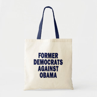 Former Democrats against Obama Canvas Bags