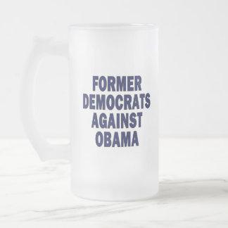 Former Democrats against Obama Frosted Glass Beer Mug