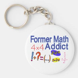 Former Math Addict Basic Round Button Keychain