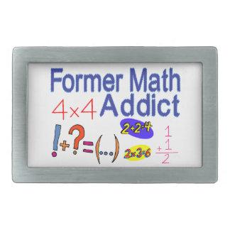 Former Math Addict Rectangular Belt Buckle