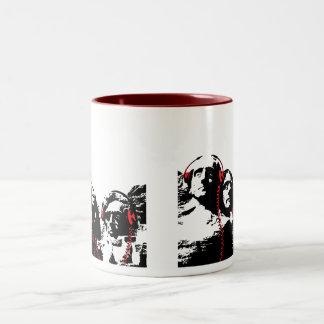 FORMER PRESIDENTS ROCK Two-Tone COFFEE MUG