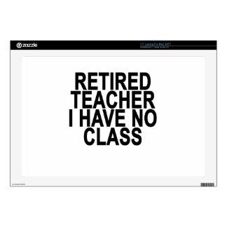 """Former Retired Teacher Light T-Shirt.png Skin For 17"""" Laptop"""