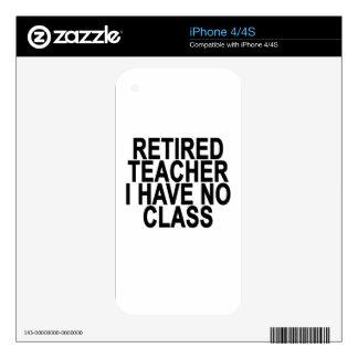 Former Retired Teacher Light T-Shirt.png Skins For iPhone 4S