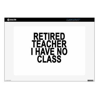 Former Retired Teacher Light T-Shirt.png Skins For Laptops