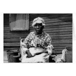 Former Slave Portrait, 1930s Greeting Card