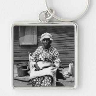 Former Slave Portrait, 1930s Key Chain