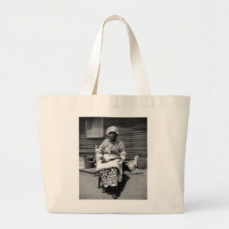Former Slave Portrait, 1930s Large Tote Bag