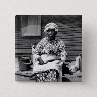 Former Slave Portrait, 1930s Pinback Button