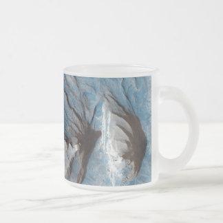 Former Streambed in Mars' Terra Meridiani Ridge Frosted Glass Coffee Mug