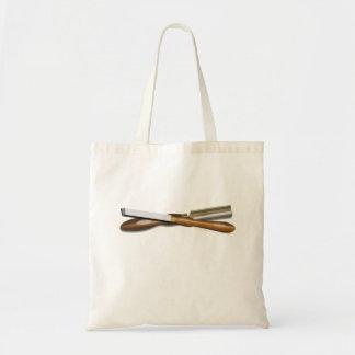 Formón cruzado herramientas y posición oblicua del bolsa tela barata