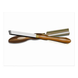 Formón cruzado herramientas y posición oblicua del postal