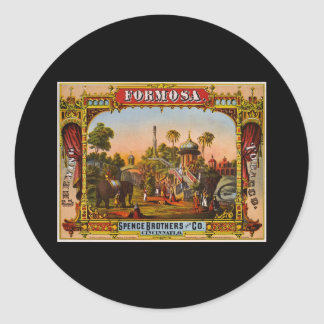 Formosa chewing tobacco classic round sticker