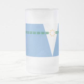 Formosa flag 16 oz frosted glass beer mug