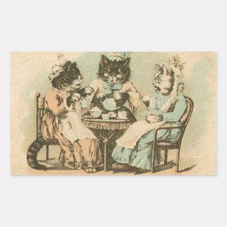 Formosa Tea Cats Rectangular Sticker