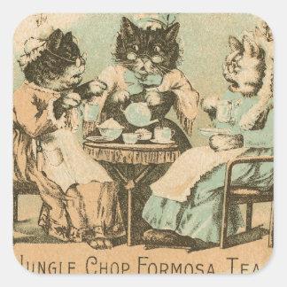 Formosa Tea Cats Square Sticker