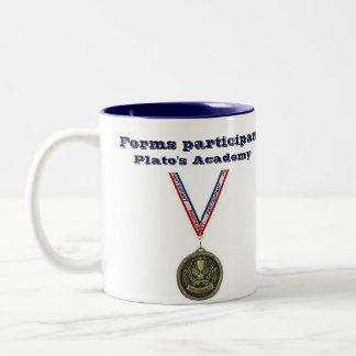 Forms participant lg blue 2-tone mug (right-hand)
