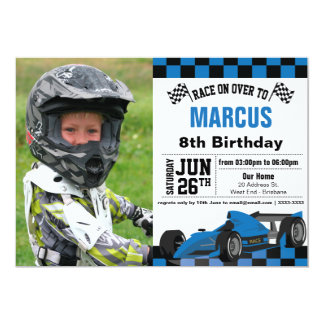 Formula 1 Birthday Party Invitation