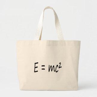 Formula a E=mc2. Einstein Bolsa Tela Grande