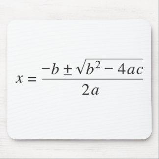 fórmula cuadrático alfombrillas de ratones