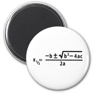 fórmula cuadrático imán redondo 5 cm