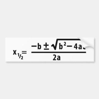 fórmula cuadrático pegatina para auto