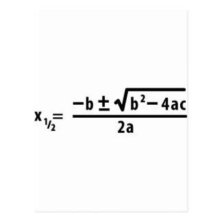 fórmula cuadrático postales