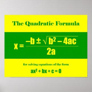 Fórmula cuadrático póster