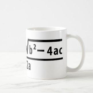 fórmula cuadrático taza