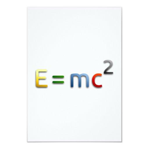Fórmula de equivalencia masa-energía invitacion personal