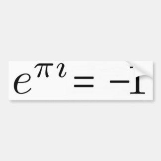 ¡Fórmula de Euler! Pegatina De Parachoque