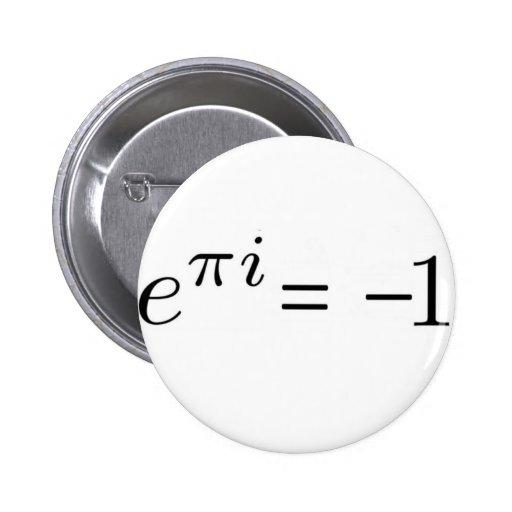 ¡Fórmula de Euler! Pin Redondo 5 Cm