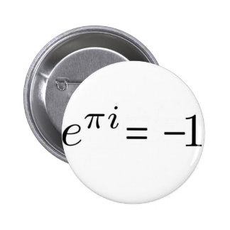 ¡Fórmula de Euler! Pin Redondo De 2 Pulgadas