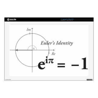 Fórmula de la identidad de Euler Calcomanías Para 43,2cm Portátiles