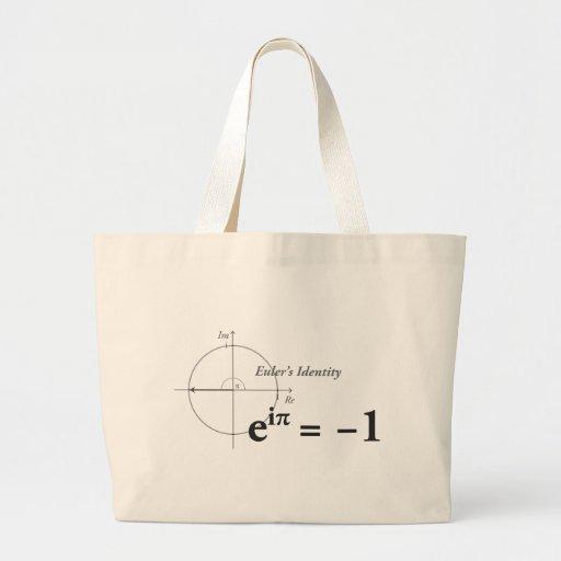 Fórmula de la matemáticas de la identidad de Euler Bolsa De Mano
