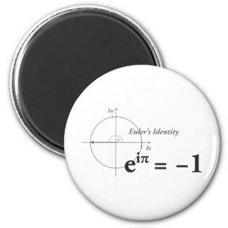 Fórmula de la matemáticas de la identidad de Euler Imán Redondo 5 Cm