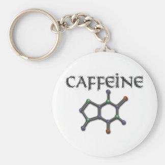 Fórmula de la química del café de la molécula del  llavero redondo tipo pin