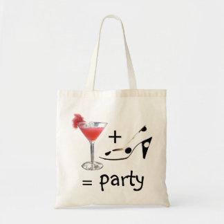 Fórmula del cóctel para la diversión del fiesta bolsa tela barata