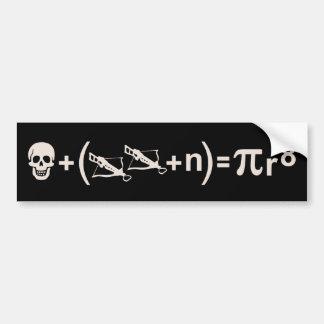 Fórmula del pirata pegatina de parachoque